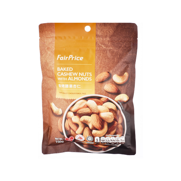 Baked Cashew Nuts with Almonds